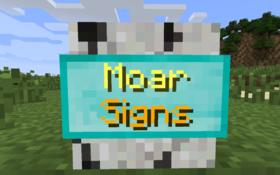 Скачать MoarSigns для Minecraft 1.11.2