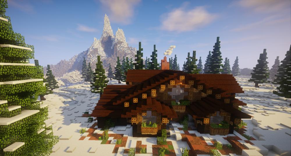 Snowy Forest Cabin скриншот 1