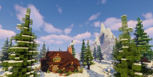 Snowy Forest Cabin скриншот 2