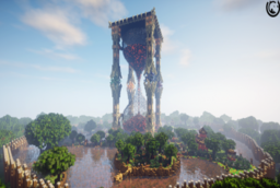 Скачать The Giant Hourglass Kingdom для Minecraft 1.12.2
