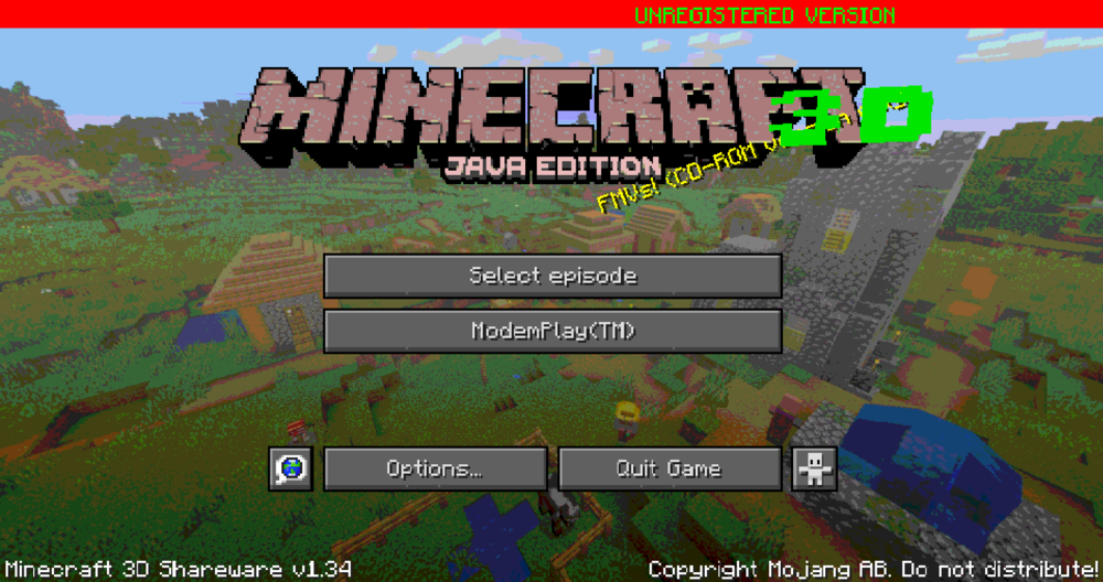 Minecraft 3D Shareware скриншот 3