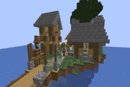 Скачать Village on water для Minecraft 1.14.4