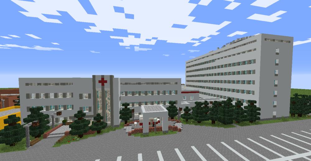 Российская больница в майнкрафт скриншот 1