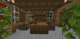 Скачать Большой деревянный дом для Minecraft 1.16.1